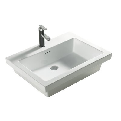 Tribeca 21 Single Bathroom Vanity Top Faucet Mount: 1 Hole