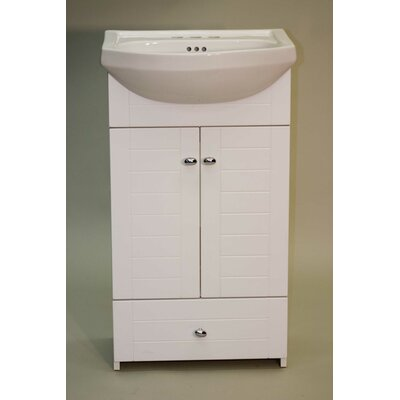 Metropolitan Therma-Foil Bathroom Vanity Width / Finish: 24 / White
