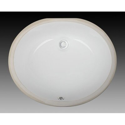 Oval Vessel Bathroom Sink Sink Finish: White, Size: 17 x 14