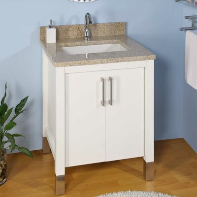 Contempo Single Bathroom Vanity Base Size: 30, Base Finish: White