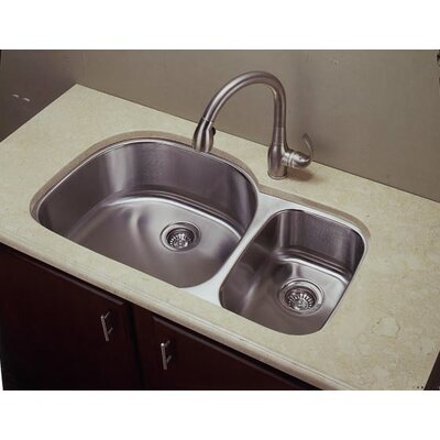 31.5 x 20.63 D-Shape Double Kitchen Sink
