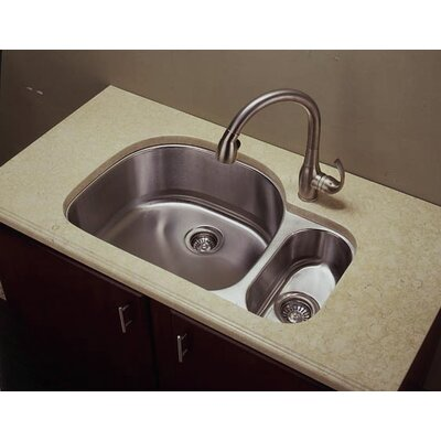 31.88 x 20.13 D-Shape Double Undermount Kitchen Sink with Food Dispoal Bowl