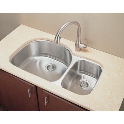 35.25 x 20.88 D-Shape Double Undermount Kitchen Sink