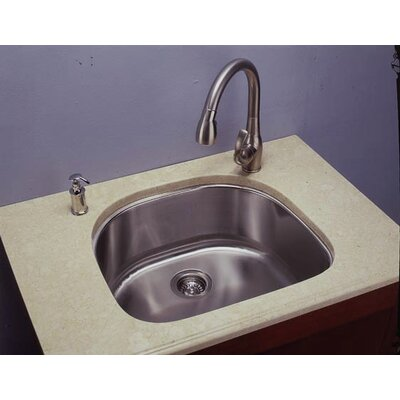 23.5 x 21 D-Shape Single Undermount Kitchen Sink