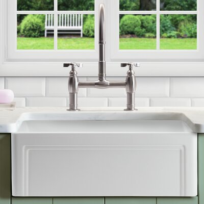Olde London 30 x 18 Farmhouse Kitchen Sink with Grid