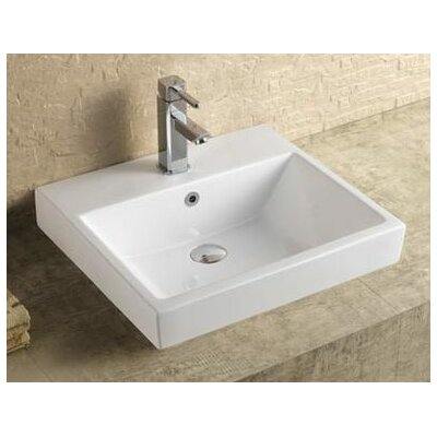 Milano Ceramic 21 Console Bathroom Sink with Overflow