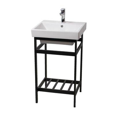 Burnsdale Stainless Steel Open Console 20.3 Single Bathroom Vanity Set Base Finish: Black