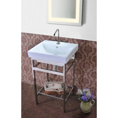 Burnsdale Stainless Steel Open Console 20.3 Single Bathroom Vanity Set Base Finish: Polished