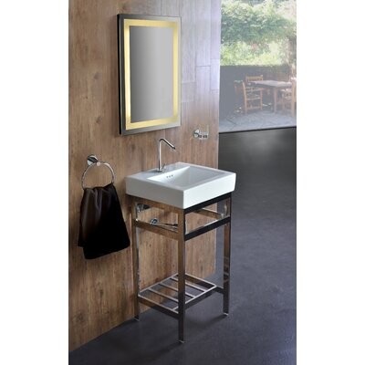 Arverne Stainless Steel Open Console 18 Single Bathroom Vanity Set Finish: Polished