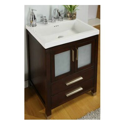Chelsea 24 Bathroom Vanity Base Base Finish: Dark Cherry