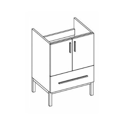 Daytona 23 Single Bathroom Vanity Base Base Finish: Greyline Gloss, Hardware: Satin