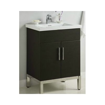 Daytona 23 Single Bathroom Vanity Base Hardware: Satin, Base Finish: Pickled Oak