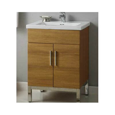 Daytona 23 Single Bathroom Vanity Base Hardware: Satin, Base Finish: Golden Wheat