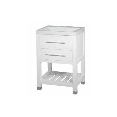 Priva 23.5 Single Bathroom Vanity Base Base Finish: White