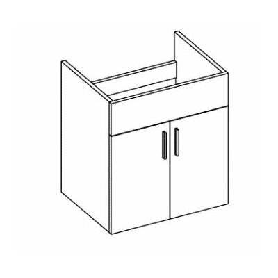 Daytona 22 Wall-Hung Single Bathroom Vanity Base Hardware: Polished, Base Finish: White Gloss