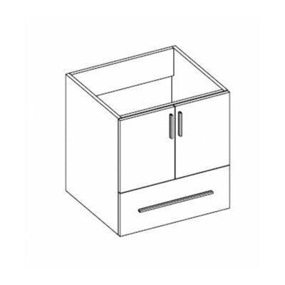 Daytona 23 Wall Mount Single Bathroom Vanity Base Base Finish: Greyline Gloss, Hardware: Polished