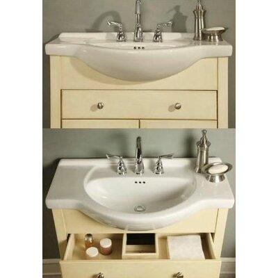 Windsor 30 Narrow Depth Bathroom Vanity Base Base Finish Antique White