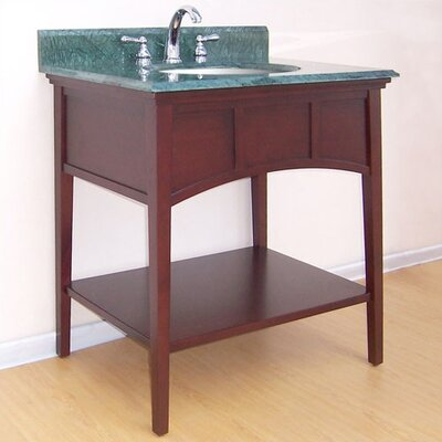 Buckingham 300 Console Bathroom Vanity Base Base Finish: Dark Cherry, Size: 30