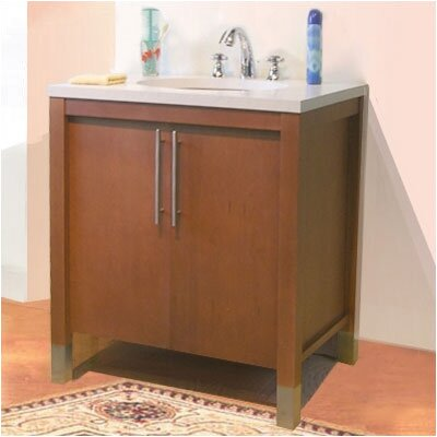 Contempo Single Bathroom Vanity Base Base Finish: Pecan, Size: 30