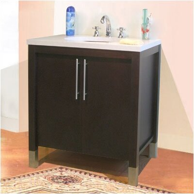 Contempo Single Bathroom Vanity Base Base Finish: Dark Mahogany, Size: 36