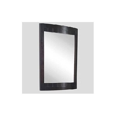 Malibu 100 Bathroom Vanity Mirror Finish: Dark Mahogany, Size: 24