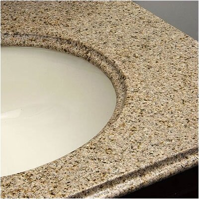 Yorktown Single Bathroom Vanity Top Bowl Configuration: White, Finish: Golden Peach