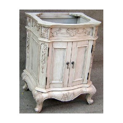 Lido Single Bathroom Vanity Basewith Door Base Finish: Pearl White, Size: 36