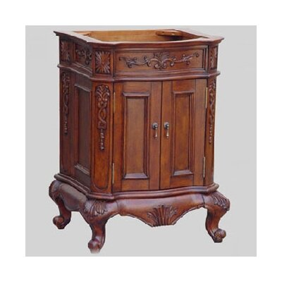 Lido Single Bathroom Vanity Basewith Door Base Finish: Dark Mahogany, Size: 24