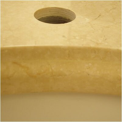 Soho Marble Single Bathroom Vanity Top Top Finish: Cream, Bowl Configuration: Biscuit