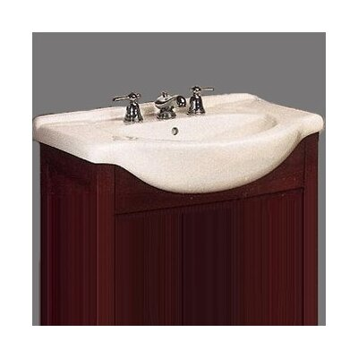 Contempo Single Bathroom Vanity Top Size: 26, Configuration: 4 Hole, Finish: Savoy Biscuit