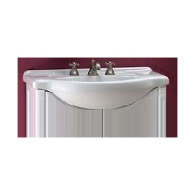 Contempo Single Bathroom Vanity Top Size: 26, Configuration: 4 Hole, Finish: Capri White