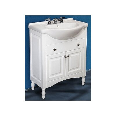 Windsor Narrow Depth Bathroom Vanity Base Size: 26, Base Finish: White