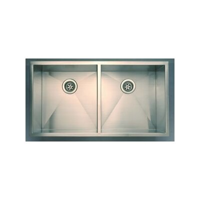 37 x 20 Everest Double Undermount Kitchen Sink