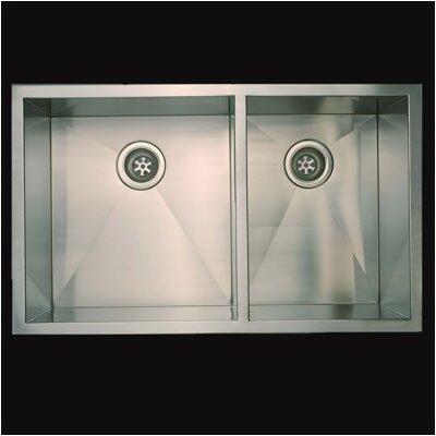 37 x 20 Everest Double Undermount Kitchen Sink