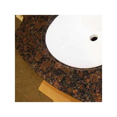 Madison Granite 31 Single Bathroom Vanity Top Bowl Configuration: With Biscuit Bowl, Top Finish: Golden Peach