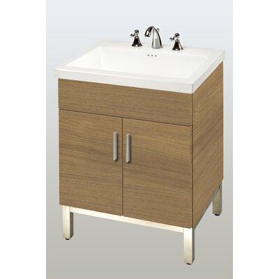 Daytona 23 Single Bathroom Vanity Base Hardware: Satin, Base Finish: Golden Wheat