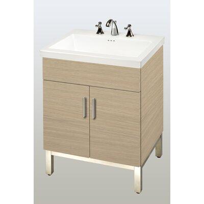 Daytona 23 Single Bathroom Vanity Base Hardware: Satin, Base Finish: Pickled Oak