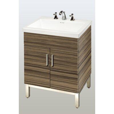 Daytona 23 Single Bathroom Vanity Base Base Finish: Timber Gloss, Hardware: Satin