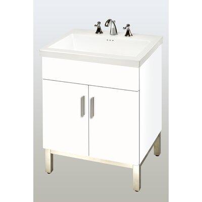Daytona 23 Single Bathroom Vanity Base Base Finish: White Gloss, Hardware: Satin