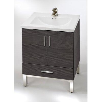 Daytona 23 Single Bathroom Vanity Base Hardware: Polished, Base Finish: Greyline Gloss