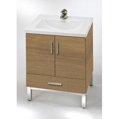 Daytona 23 Single Bathroom Vanity Base Base Finish: Golden Wheat, Hardware: Polished