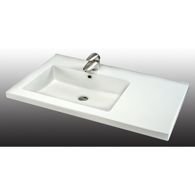 Fiorella 32 Single Bathroom Vanity Top Faucet Mount: 3 Holes 8 Spread, Bowl Configuration: On Left