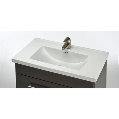 Kira 24 Single Bathroom Vanity Top Faucet Mount: 3 Holes 8 Spread