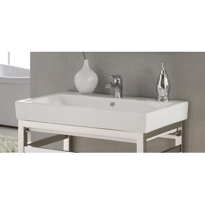 Milano 30 Console Bathroom Sink with Overflow