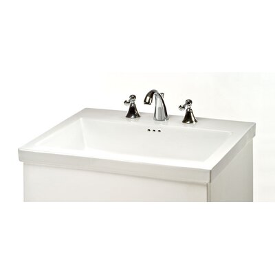 Tribeca 24 Single Bathroom Vanity Top Faucet Mount: 3 Holes 8 Spread