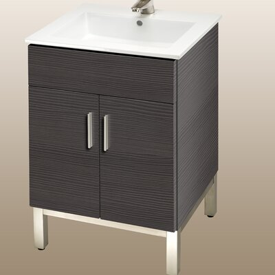 Daytona 21 Bathroom Vanity Color: Greyline Gloss, Hardware: Polished