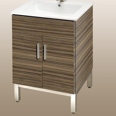 Daytona 21 Bathroom Vanity Color: Timber Gloss, Hardware: Polished