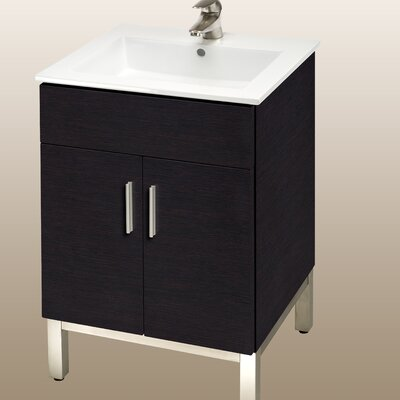Daytona 21 Bathroom Vanity Color: Blackwood, Hardware: Polished