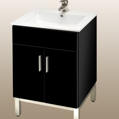 Daytona 21 Bathroom Vanity Color: Black Gloss, Hardware: Satin