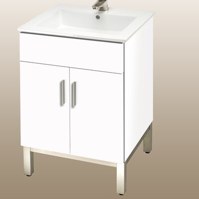 Daytona 21 Bathroom Vanity Color: White Gloss, Hardware: Polished